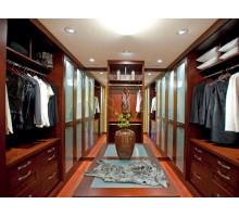 Гардеробная комната Анже, цвет - итальянский орех, стиль - современный