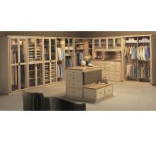 Гардеробная комната Нанси, цвет - клен, стиль - современный