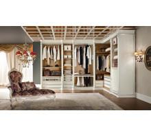 Гардеробная комната на заказ Кан, цвет - белый, стиль - современный
