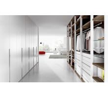 Встроенная гардеробная в спальню Марсель, цвет - белый, стиль - современный