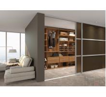 Отдельная гардеробная комната, цвет - Орех Опера, стиль - современный