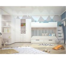 Детская Прага, цвет - белое дерево, стиль - современный