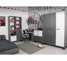 Детская комната Карбон, цвет - серый Эдельвуд , карбон, белый, стиль - современный