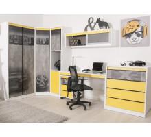 Детская комната Колледж-Йеллоу, цвет - серый/желтый, стиль - современный