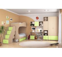 Детская комната Формула мебели Дельта Композиция 5, цвет - дуб молочный, стиль - современный
