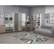 Детская комната Димика, цвет - серый, дуб Андреа, серо-зеленый, стиль - современный