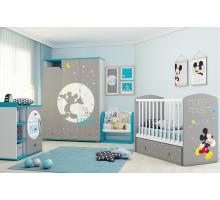 Детская комната Kids Disney baby Микки Маус, цвет - серый, белый, стиль - современный