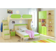 Детская Гармония Teen`s Home 2, цвет - клен, зеленый, стиль - современный
