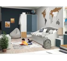 Детская My World (Tesca), цвет - светло/темно серый, бук, белый, стиль - современный