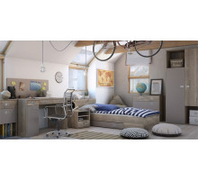 Детская комната Vox: Voyager №1, цвет - серый, дуб, стиль - современный