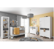 Детская комната Szynaka: Picolo - 1, цвет - серый, белый, стиль - современный
