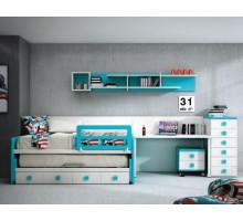 Детская комната Joype Diez, цвет - белый, бирюзовый, стиль - классика