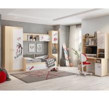 Комната Энерджи, цвет - дуб, белый, стиль - современный