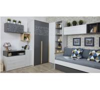 """Комната """"Нью Тон Грэй"""" №1, цвет - дуб эльза, серый/белый лофт, стиль - современный"""