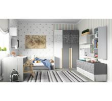 """Комната """"Нью Тон Грэй"""" №2, цвет - дуб эльза, серый/белый лофт, стиль - современный"""