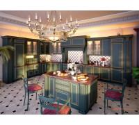 Кухня Рим зеленая, цвет - зеленый, стиль - прованс