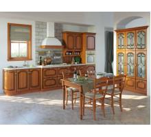 Кухня Валерия, цвет - коричневый, стиль - ретро