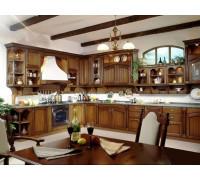 Кухня Швеция, цвет - коричневый, стиль - ретро