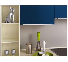 Кухня Дельфиниум, цвет - серый, синий, стиль - модерн