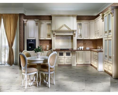 Кухня Лиана, цвет - слоновая кость, бежевый, стиль - лофт
