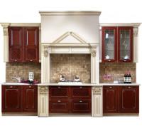 Кухня Лидия, цвет - светлый, коричневый, стиль - модерн