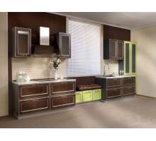 Кухня Наоми, цвет - коричневый, стиль - модерн