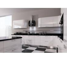 Кухня Жасмин, цвет - черно-белый, стиль - модерн
