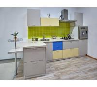 Кухня Эстония, цвет - бежевый, серый, стиль - лофт