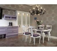 Кухня Канада, цвет - белый, светлый, фиолетовый, стиль - модерн