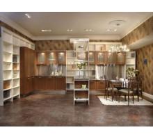 Кухня Кристина, цвет - слоновая кость, бежевый, коричневый, стиль - модерн