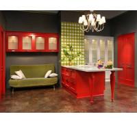 Кухня Лас Вегас, цвет - красный, зеленый, стиль - модерн