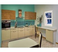 Кухня Магнолия, цвет - бежевый, зебрано, стиль - модерн