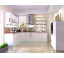 Кухня Гранд белая матовая, цвет - белый, стиль - модерн