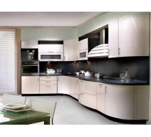 Кухня Клео голубой металлик, цвет - металлик, белый, стиль - модерн