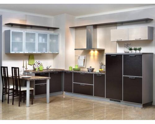 Кухня Моника венге, цвет - венге, зебрано, стиль - модерн