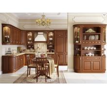 Кухня Сорренто, цвет - темный орех, стиль - прованс