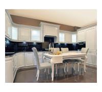 Кухня Империя П-образный, цвет - белый/бежевый, стиль - современный