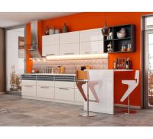 Кухня Алиса с барной стойкой, цвет - белый, стиль - модерн