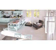Кухня Эмилия с барной стойкой, цвет - зеленый, стиль - классический