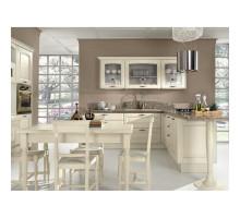 Кухня Аворио с барной стойкой, цвет - беленый дуб, патина орех, стиль - современный