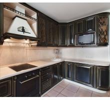 Кухня Беатриче  маленькая, цвет - черный, стиль - классический