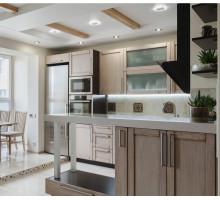 Кухня Эдит Пиаф маленькая, цвет - кантри, стиль - модерн