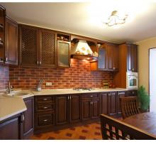 Кухня Кармен классическая, цвет - коричнневый