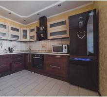 Кухня Эммануэль маленькая, цвет - коричневый, стиль - модерн