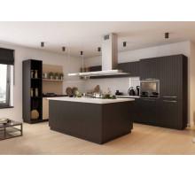 Кухня Азалия лофт, цвет - коричневый, венге