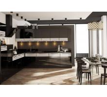 Кухня Инга лофт, цвет - черный, белый