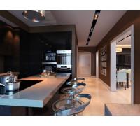 Кухня Стиль лофт, цвет - черный