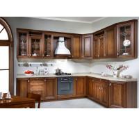 Кухня Богемия темная прованс, цвет - коричневый