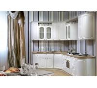 Кухня Лючия радиусная прованс, цвет - белый