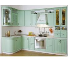 Кухня Люкс прованс, цвет - зеленый
